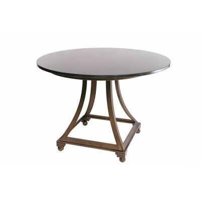 Allan Copley Designs Bianca Round Glass Top Dining Table with Pedestal Base