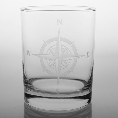 Rolf Glass Compass Rose 14 Oz DOF Glass (Set of 4)