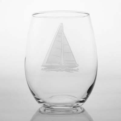 Rolf Glass Sailboat White Wine Tumbler (Set of 4)
