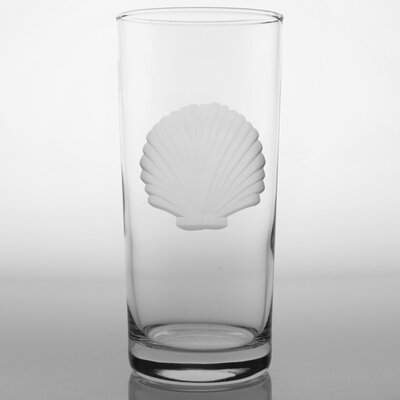 Rolf Glass Seashell 15 Oz Cooler Glass (Set of 4)