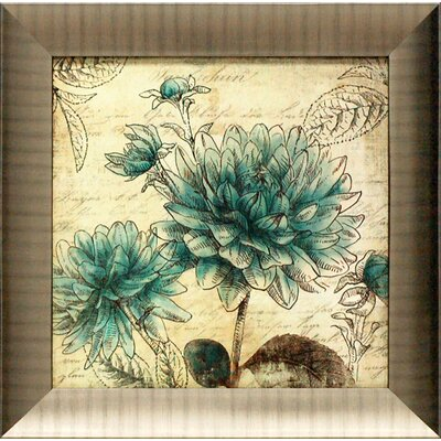 Blue Botanical II Framed Graphic Art