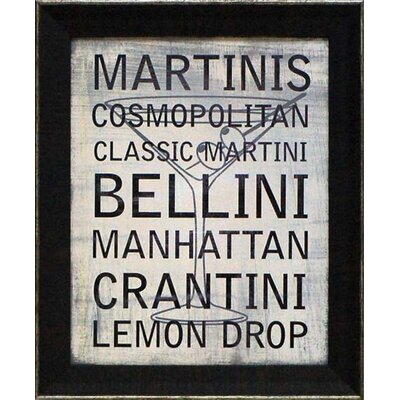 Martini Variety Framed Textual Art