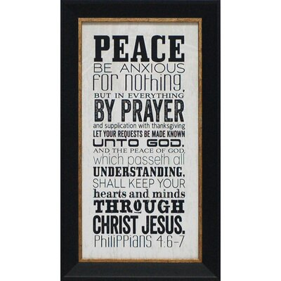 Peace Framed Textual Art