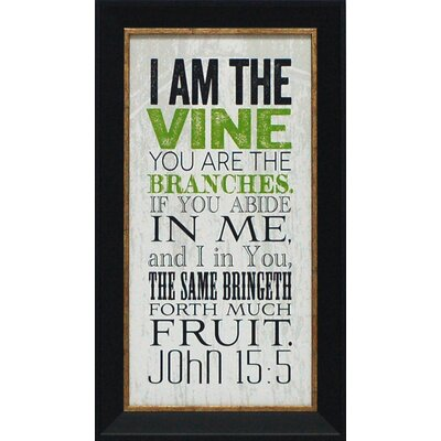 I Am the Vine Framed Textual Art