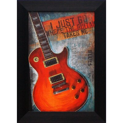 Artistic Reflections Where the Guitar Takes Me Framed Art