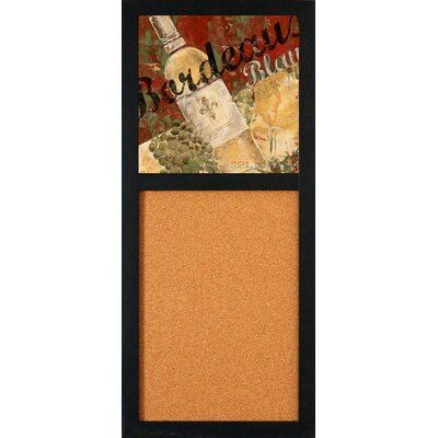 "Artistic Reflections Bordeaux Blanc 2' 8"" x 1' 2"" Bulletin Board"