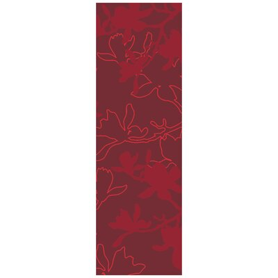 Jef Designs Magnolia Red Rug