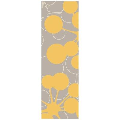 Jef Designs Bubble Gray/Yellow Rug