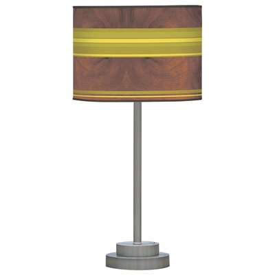 Jef Designs Organic Modern Horizontal Stripes One Stem Table Lamp