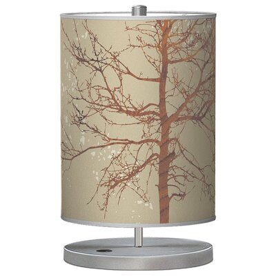 "Jef Designs Organic Modern Tree Cylinder 21"" H Table Lamp with Drum Shade"