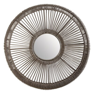 Lazy Susan Wicker Spoke Mirror