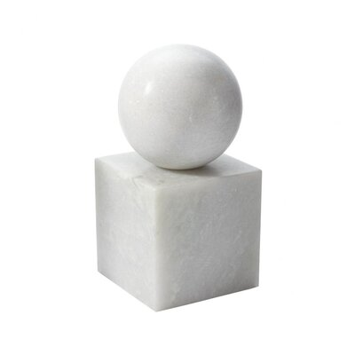 Lazy Susan USA Marble Minimalist Bookend Ornament