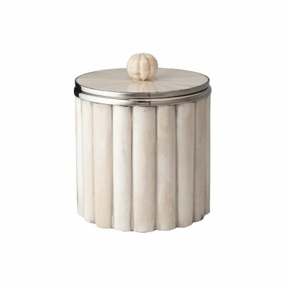 Lazy Susan USA Bone Rod Pattern Ice Bucket