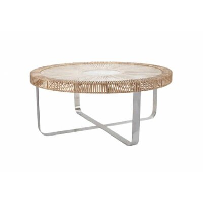 Lazy Susan Split Rattan Coffee Table