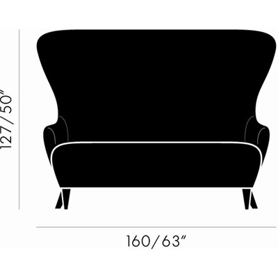 Tom Dixon Wingback Loveseat