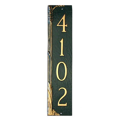 Wheat Column Address Plaque
