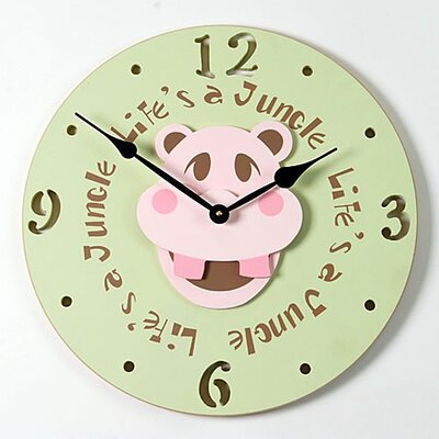 Forest Creations Hippo Head Kid Clock