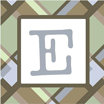 Forest Creations Boy's Plaid Alphabet Canvas Plaid