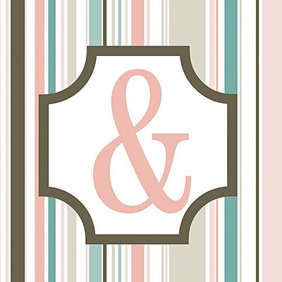 Forest Creations Girl's Stripe Alphabet Canvas