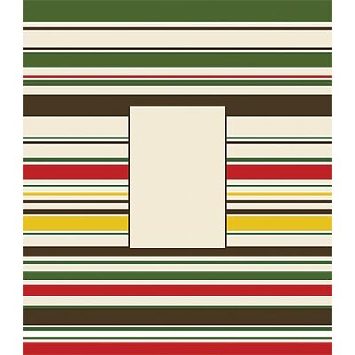 Forest Creations Red, Green Striped Canvas Frame