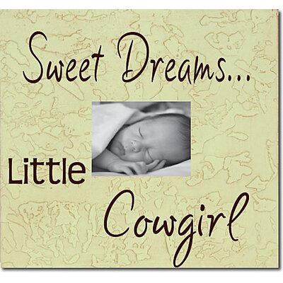 Forest Creations Sweet Dreams...Little Cowgirl Child Frame