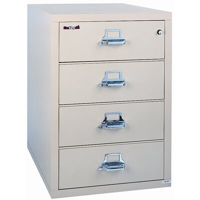 Fire King 31&quot; W Four-Drawer Lateral File