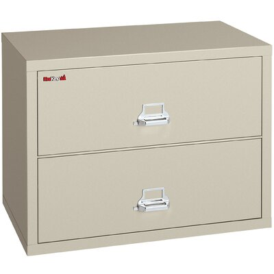 "Fire King 38"" W Two-Drawer Lateral File"