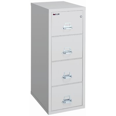 "Fire King 25"" D Four-Drawer Vertical Letter File"