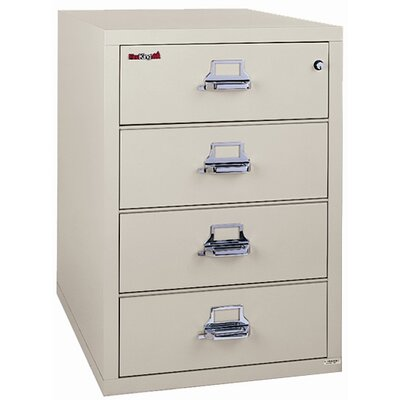 Fire King 24-Drawer Card, Check and Note File
