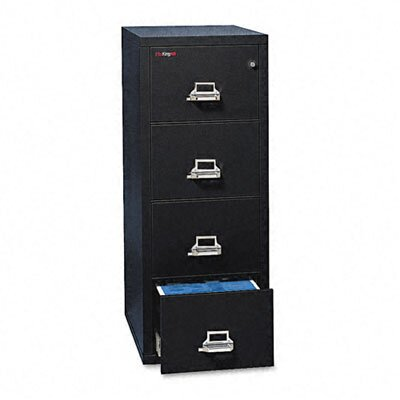 "Fire King 4-Drawer Vertical File, 20.81"" W X 25"" D, Ul 350 for Fire, Legal"