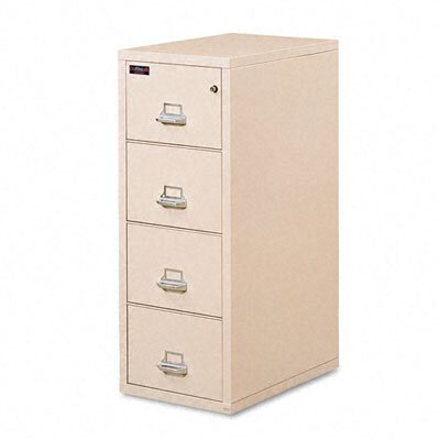 Fire King 4-Drawer Vertical File, Ul Listed 350 for Fire, Legal
