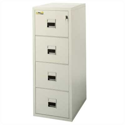 "Fire King 21"" W Four-Drawer Vertical Signature File"