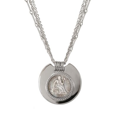 American Coin Treasures Civil War Triple Strand Coin Pendant