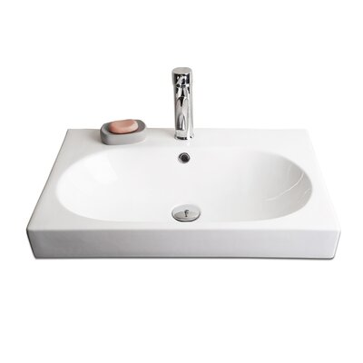 IMG Ceramic Single Hole Vessel Bathroom Sink