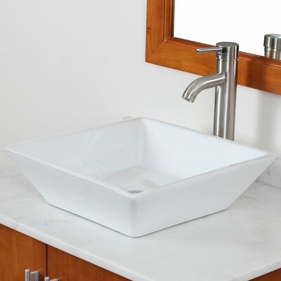IMG Square Single Hole Vessel Bathroom Sink