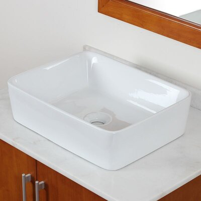 Rectangular Deck Mount Vessel Bathroom Sink - IMG-W211