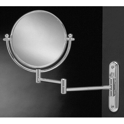 IMG Dual Sided 3x Wall Mount Makeup Mirror