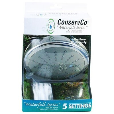 ConservCo Multnomah 5-Function Fixed Showerhead