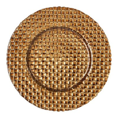 "BBJ Linen Braid 13"" Glass Charger Plate"
