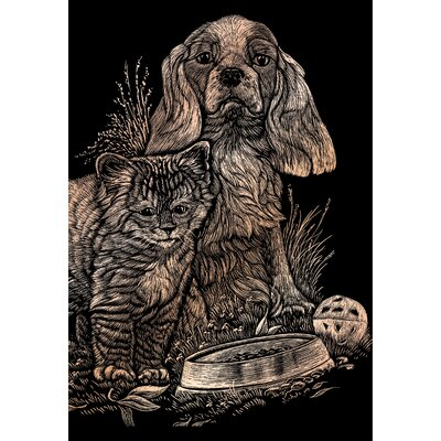 Royal & Langnickel Kitten and Puppy Art Engraving