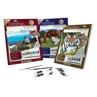 Royal & Langnickel Painting by Numbers Artist Canvas Series Horses Field Set