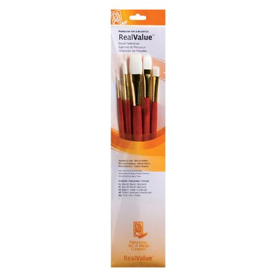 Princeton Artist Brush White Taklon Brushes (Set of 5)