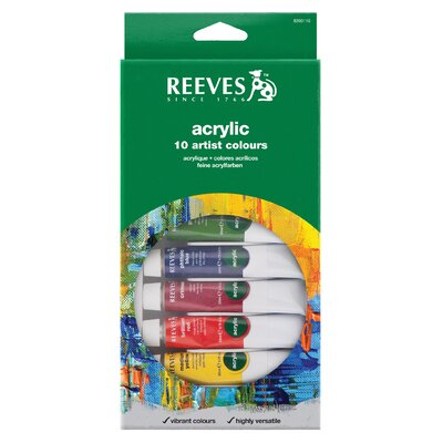 Reeves Acrylic Paint (Set of 10)