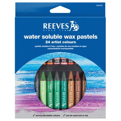 Reeves Water Soluble Wax Pastel (Set of 24)