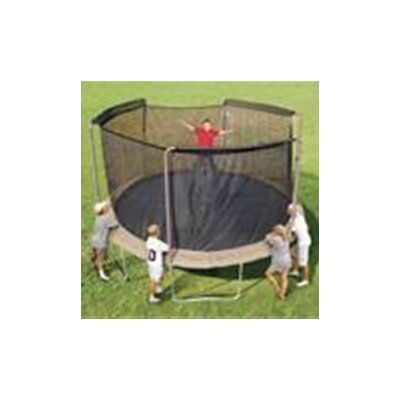 Sports Oh 14' Enclosure Trampoline Net Using 3 Arches