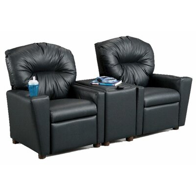 Children's Home Theater Recliner Set with Storage Console