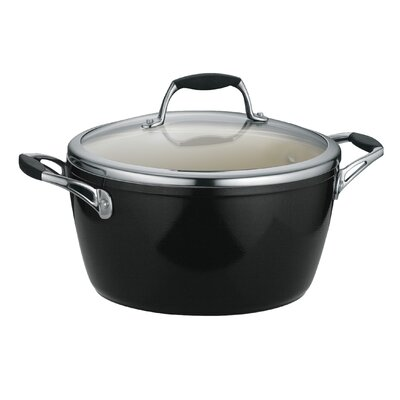 Tramontina Gourmet Ceramica 01 Deluxe Porcelain Enamel Metallic Black 5 Qt Covered Dutch Oven
