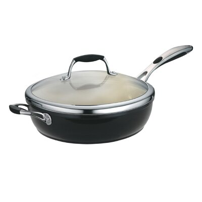 Tramontina Gourmet Ceramica 01 Deluxe Porcelain Enamel Metallic Black Covered 11 in Deep Skillet