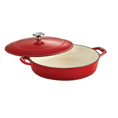 Tramontina Gourmet Enameled Cast Iron 4 Qt Covered Braiser Gradated