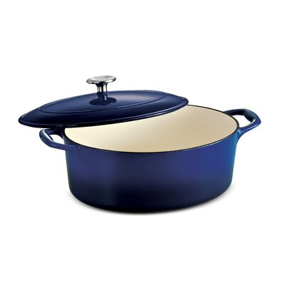 Tramontina Gourmet Enameled Cast Iron 7 Qt Covered Oval Dutch Oven Gradated